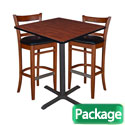 Click here for more Cain Café Table and Two Zoe Café Stools by Regency by Worthington