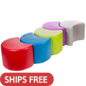 Session Crescent Plastic Stool Seating by Tenjam
