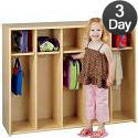 Eco Five-Section Toddler Locker Unit by Tot-Mate