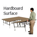 Click here for more Transfold Dual Height Stages w/ Hardboard Deck by Midwest Folding by Worthington
