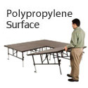 Click here for more TransFold Dual Height Stages w/ Polypropylene Deck by Midwest by Worthington