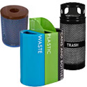 Click here for more Metal Trash Cans & Recycling Containers by Worthington