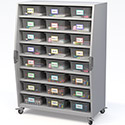 Click here for more Explorer Tall Storage Cart with Bins by Haskell by Worthington