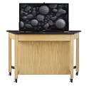 Click here for more Media Trapezoid Table w/ TV Mount by Diversified Woodcrafts by Worthington