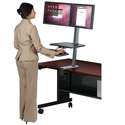 Click here for more Up-Rite Desk Mounted Sit and Stand Workstation by Balt by Worthington