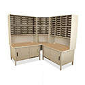 100 Slot Corner Mailroom Sorter by Marvel