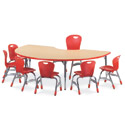 4000 Series Classroom Color Banded Activity Tables with Fusion Maple Top by Virco