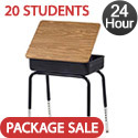 Click here for more Set of 20 Virco 751 Lift Lid Desks - Ships in 24 Hours by Worthington