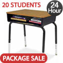 Click here for more Set of 20 Virco 785 Open Front Desks by Worthington