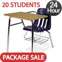 Click here for more Set of 20 Virco 9400BR Combo School Desks- Ships in 24 Hours by Worthington