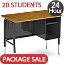 Click here for more Set of 20 Virco 765 Jr Executive Desks - Ships in 24 Hours by Worthington