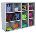 Whitney White 12-Backpack Storage Cubby by Whitney Brothers