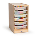 Click here for more Clear Tray Rolling Storage Center by Whitney Brothers by Worthington