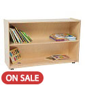Tip-Me-Not Shelf Storage by Wood Designs