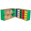 Click here for more Healthy Kids Colors Half & Half Tray Folding Storage by Wood Designs by Worthington
