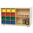 Double Mobile Storage by Wood Designs