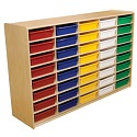 "3"" Letter Tray Mobile Storage Units w/ 30, 32 or 40 Trays by Wood Designs"