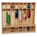 Click here for more 8 Section Seat Locker by Wood Designs by Worthington