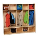 Tip-Me-Not 5 Seat Locker by Wood Designs
