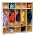 Click here for more Five Section Locker by Wood Designs by Worthington