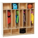 Eight Section Space-Saver Locker by Wood Designs