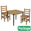Click here for more Hardwood Adjustable Height Table with Chair Sets by Wood Designs by Worthington