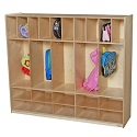 Click here for more 5 Section Locker with Cubbies by Wood Designs by Worthington