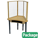 Click here for more Synergy Desk with Sneeze Guard by Wood Designs by Worthington