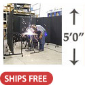 Click here for more Portable Welding Screens (5' H) by Screenflex by Worthington