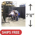 "Click here for more Portable Welding Screens (7'-4"" H) by Screenflex by Worthington"