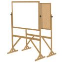 Wood Frame Free Standing Reversible Boards by Ghent