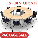 Click here for more Zuma Octagon Classroom Desk and Stack Chair Package by Virco by Worthington