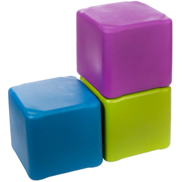 Tenjam Session Indoor Or Outdoor Plastic Cube Stool Large
