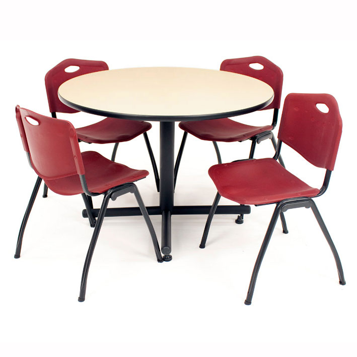 package-deal-cafe-table-and-four-m-stacker-4700-chairs-by-regency
