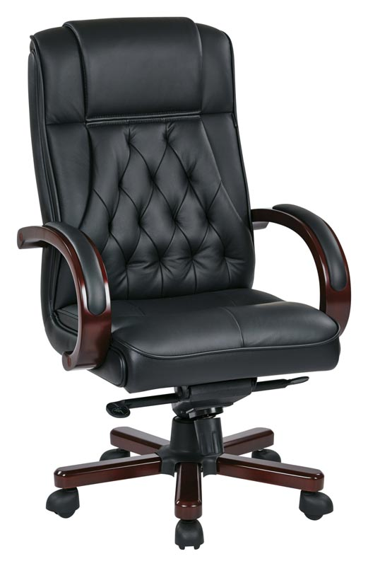 Office Star Leather Executive Chair Twn300l 3 Executive Office Chairs Worthington Direct