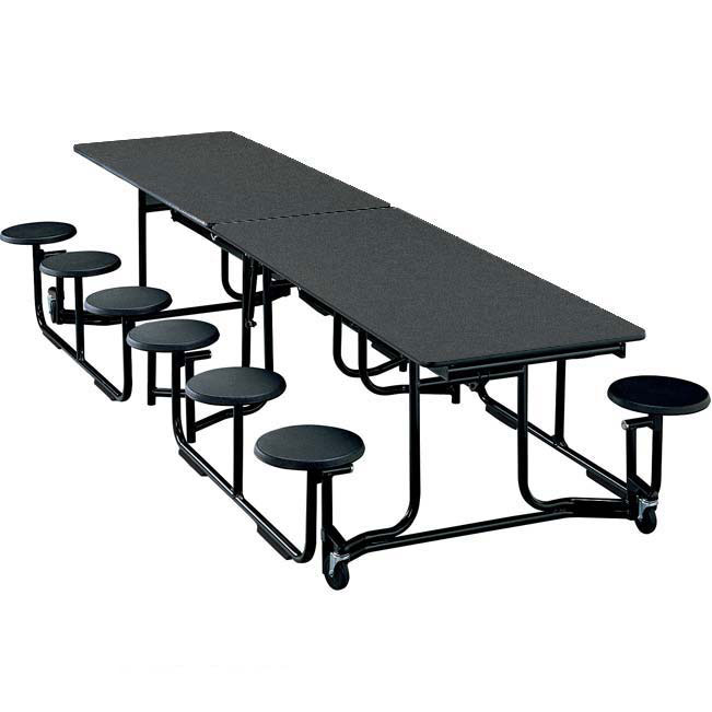 Ki Uniframe Rectangular Stool Cafeteria Table 10 L With 12 Stools Uf106 Cafeteria Tables Worthington Direct