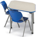 UXL Two Student Diamond Desk by Smith System