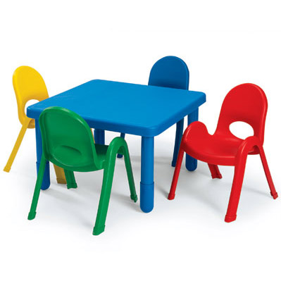 Angeles ab70020 myvalue preschool table and chairs set 28 quot square