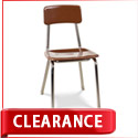 Clearance 3300 Series Mocha Solid Plastic Chairs by Virco