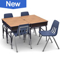 Virco Open Front Student Desks + School Chair Classroom Sets