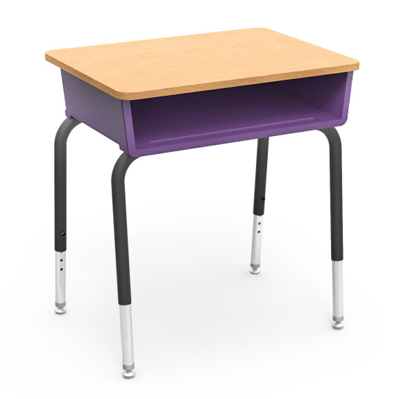 virco open front student desk with color bookbox 785 open front
