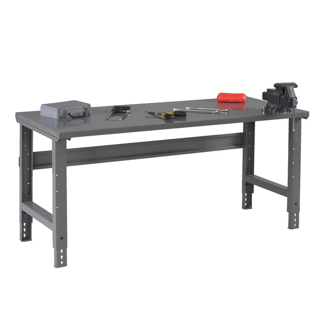 steel-top-workbenches-with-adjustable-legs-by-tennsco
