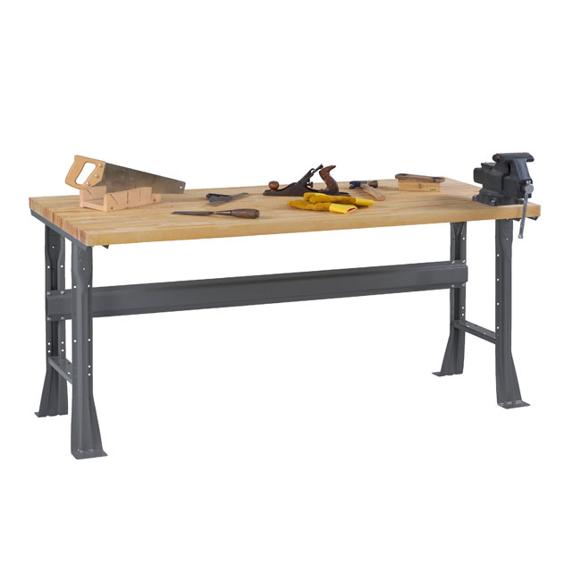 hardwood-top-workbenches-with-flared-legs-by-tennsco