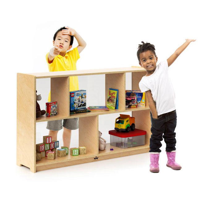 preschool-storage-cabinet-with-acrylic-back-by-whitney-brothers
