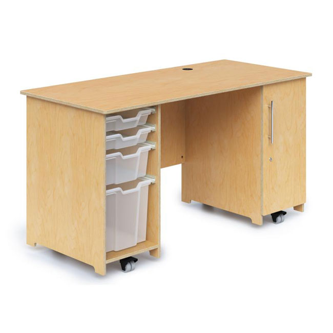 wb1809-teacher-desk-with-trays-locking-door
