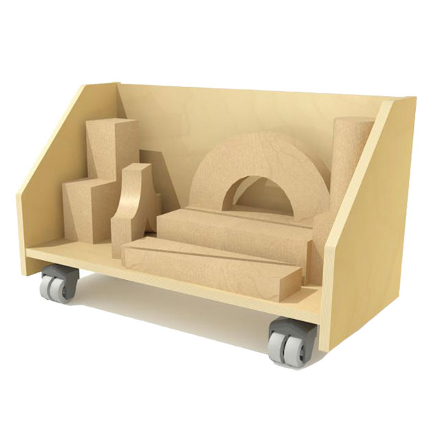 Wood Block Storage Cart
