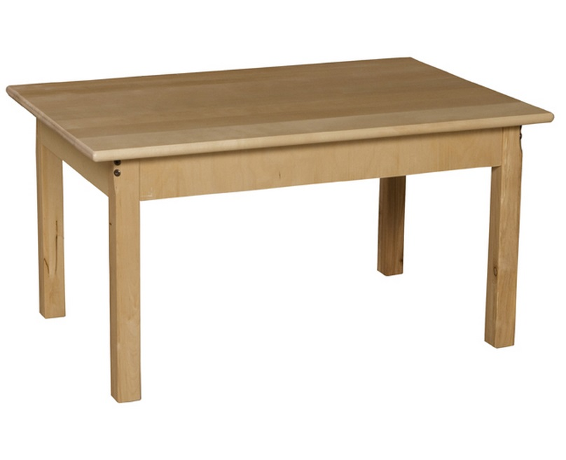 Wood Designs Birch Hardwood Table 24 X 48 Rectangle Wd848xx Activity Tables For Children