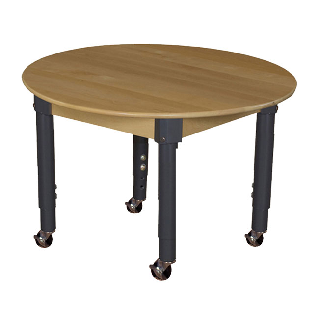 mobile-hardwood-table-with-adjustable-legs-36-round