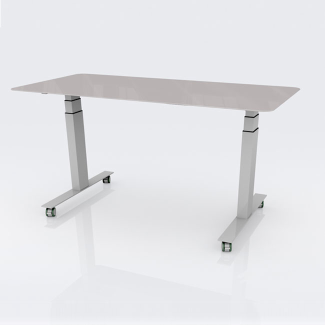 Sit to Stand Glass Dry Erase Writable Table by CEF