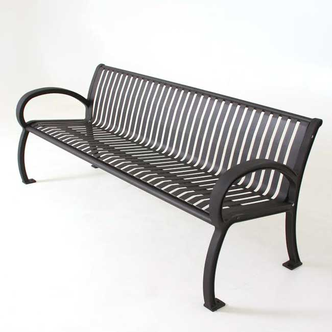 Outstanding Wilmington Outdoor Bench With Vertical Slat Back 8 L Machost Co Dining Chair Design Ideas Machostcouk